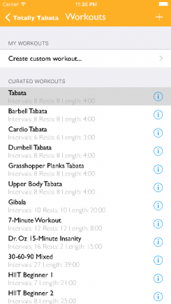 Totally Tabata - iphone