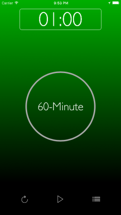TuneTime Interval Timer - iphone